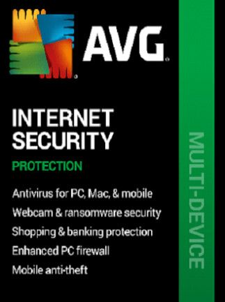 AVG Internet Security (PC, Android, Mac) - 10 Devices, 1 Year