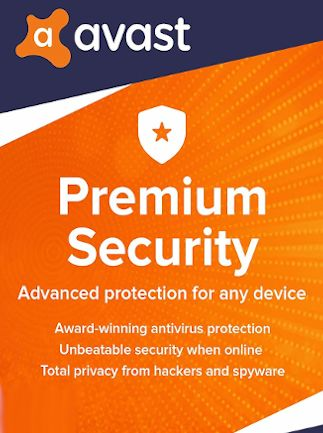 Avast Premium Security (5 Devices, 1 Year) - PC, Android, Mac, iOS