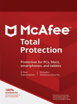 McAfee Total Protection 1 Device 3 Years Multidevice