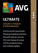 AVG Ultimate Multi-Device (PC, Android, Mac, iOS) (3 Devices, 3 Years) - AVG Key