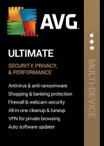 AVG Ultimate Multi-Device (1 Device, 1 Year) - AVG PC, Android, Mac, iOS