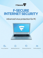 F-Secure Internet Security - 3 Users, 1 Year - F-Secure Key