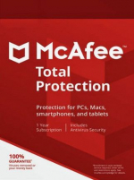 McAfee Total Protection 3 Devices 1 Year Multidevice