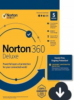 Norton 360 Deluxe + 50 GB Cloud Storage (5 Devices, 1 Year)