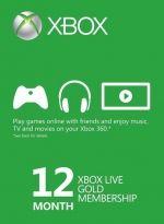 Xbox Live Gold 12 Month Membership